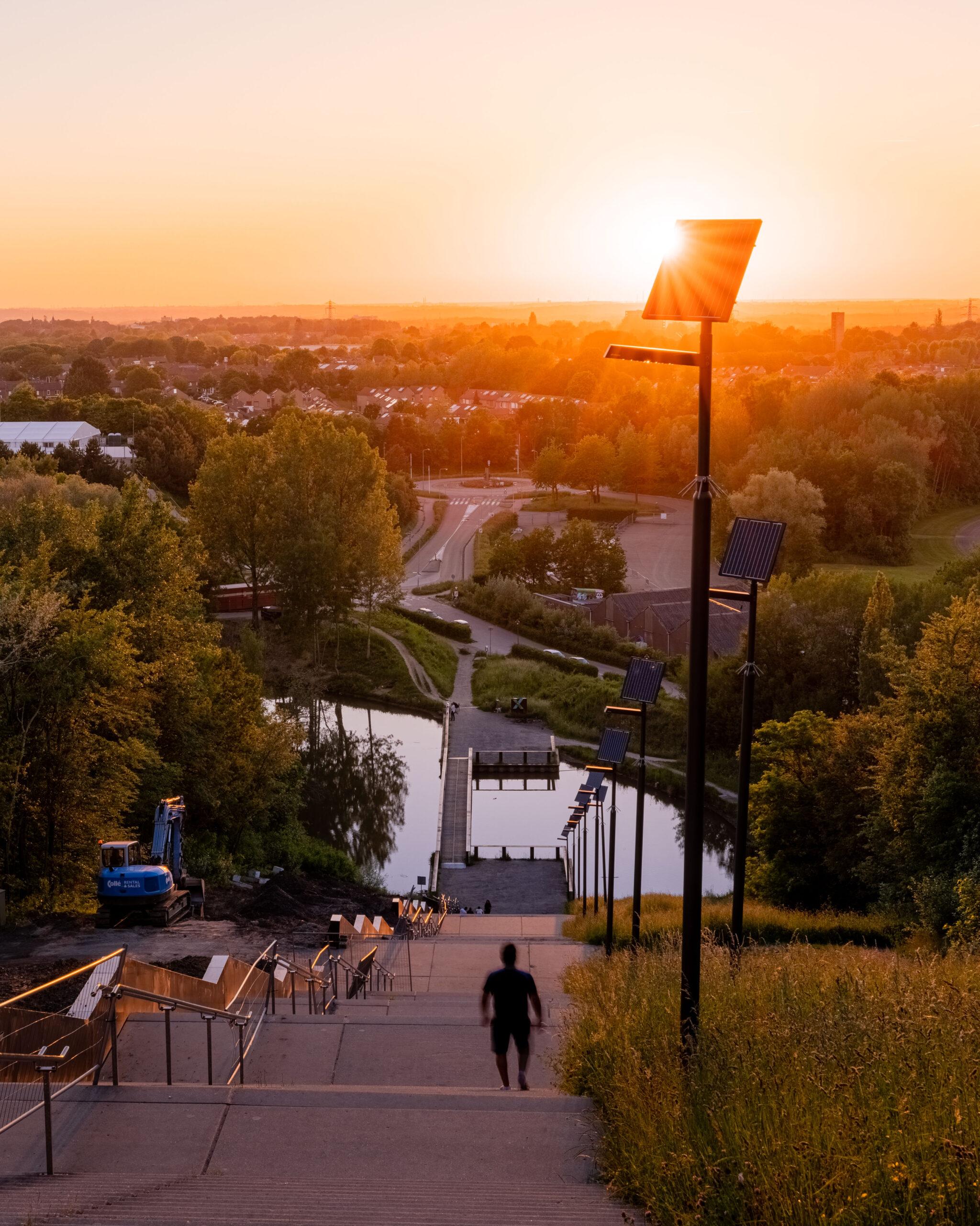The Netherlands Landgraaf Wilhelminaberg Stairs Walk Sunsets Dienst Fotografie